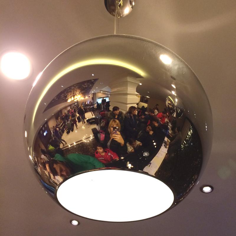 Otel lobisi :) otele ilk giriş :)